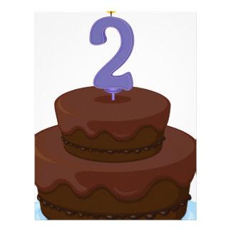 una torta de cumpleaños plantillas de membrete