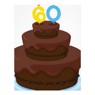 una torta de cumpleaños plantilla de membrete