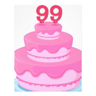 una torta de cumpleaños membretes personalizados