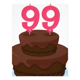 una torta de cumpleaños membrete