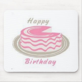 Una torta para su cumpleaños tapete de ratones