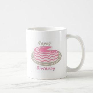 Una torta para su cumpleaños tazas de café