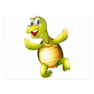 Una tortuga sonriente postales