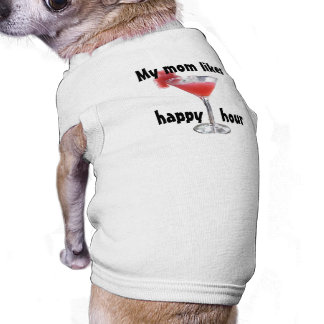 Una tostada a la camisa del perro de la hora feliz camisa de perro