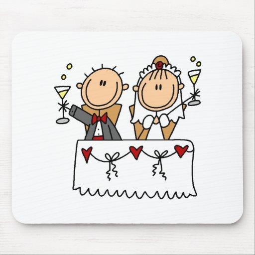 Una tostada a la novia y al novio Mousepad Tapetes De Ratones