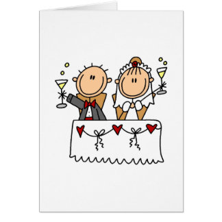 Una tostada a la tarjeta de novia y del novio