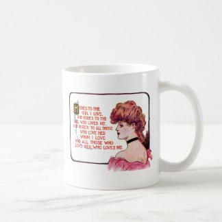 Una tostada al amor del chica I Taza De Café
