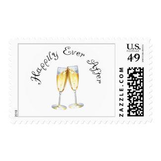 Una tostada congratulatoria sellos postales