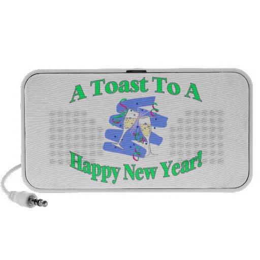 Una tostada del Año Nuevo Mini Altavoces