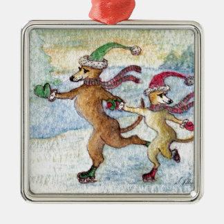 Una tradición del día de fiesta - patinando adornos de navidad
