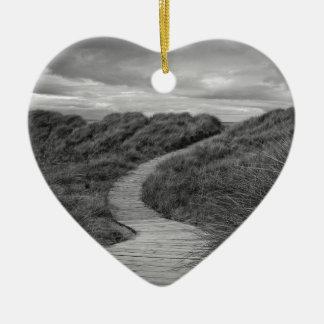 ¿Una trayectoria a donde? Adorno Navideño De Cerámica En Forma De Corazón