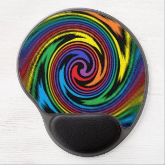 Una turbulencia colorida alfombrillas con gel