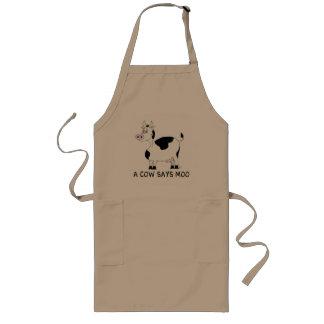 Una vaca dice el MOO Delantales