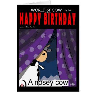Una vaca Nosey Tarjeta De Felicitación
