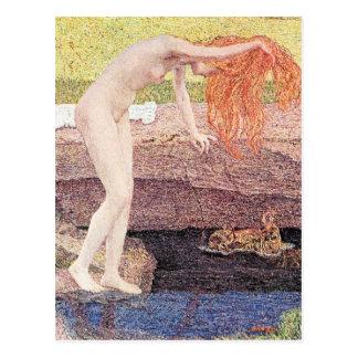 Una vanidad, detalle de Giovanni Segantini Postal