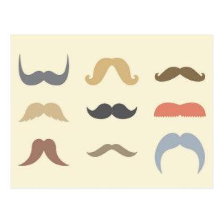 Una variedad de bigotes tarjeta postal