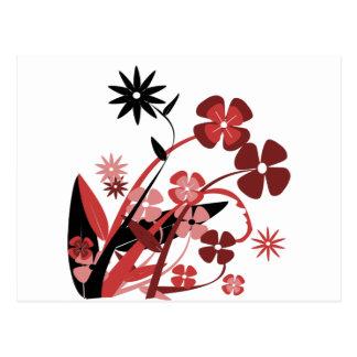 Una variedad de flores de diversos colores tarjetas postales