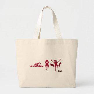 Una variedad de productos con el logotipo rojo de  bolsa tela grande