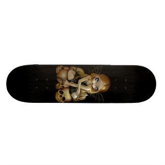 Una vela en el monopatín de hadas gótico oscuro de patinetas personalizadas