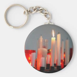 Una vela para la paz llavero redondo tipo pin
