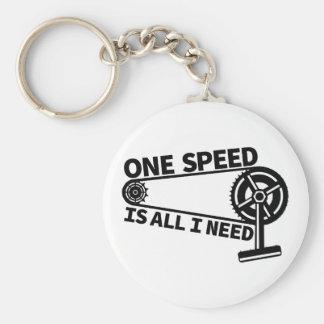Una velocidad es toda lo que necesito, solo fixie llavero redondo tipo pin