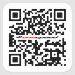 Una velocidad QR Calcomania Cuadradas Personalizada