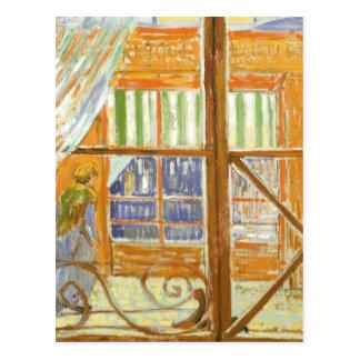 Una ventana de la carnicería de cerdo de Vincent Postal