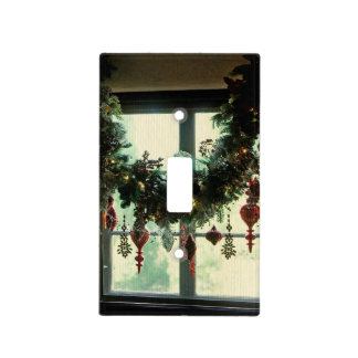 Una ventana del navidad tapa para interruptor