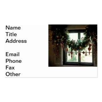 Una ventana del navidad tarjetas de visita