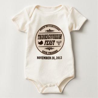 Una vez en un curso de la vida Thanksgivukkah Trajes De Bebé