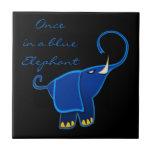 Una vez en un elefante azul azulejo