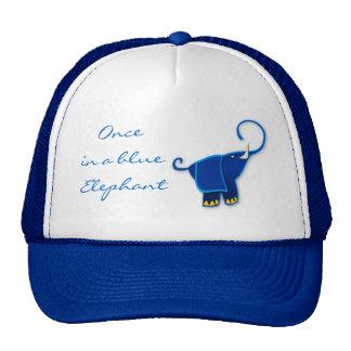 Una vez en un elefante azul gorras de camionero