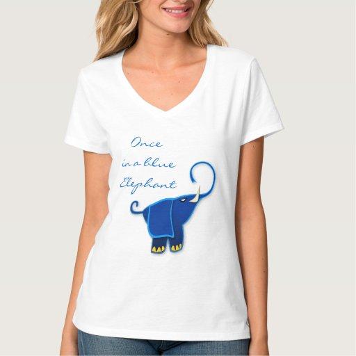 Una vez en un elefante azul playeras