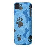 Una vez en un perro azul Case-Mate iPhone 4 cárcasas
