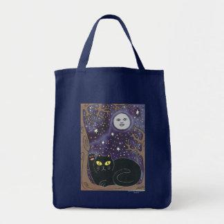 Una vez en una luna azul afortunada bolsa tela para la compra
