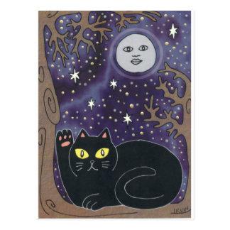 Una vez en una luna azul afortunada tarjeta postal