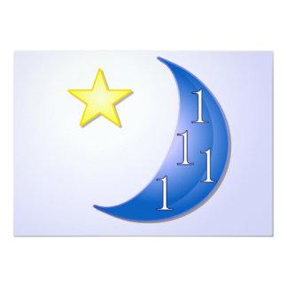 """Una vez en una luna azul invitación 5"""" x 7"""""""