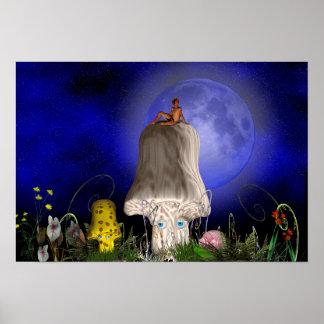 Una vez en una luna azul póster