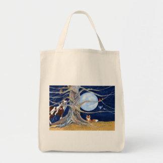 una vez luna azul del ina bolsa tela para la compra