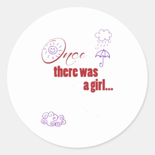 Una vez que había un chica - embellecido con el etiquetas redondas