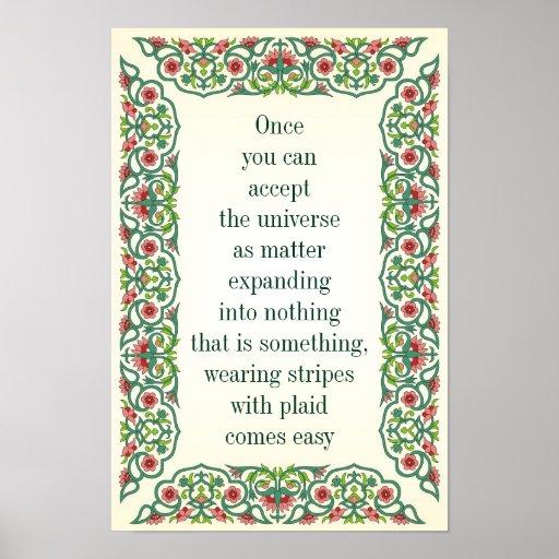 una vez que usted puede aceptar la sabiduría de la póster
