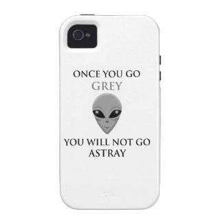 UNA VEZ QUE USTED VA GRIS, USTED NOTGO EXTRAVIADO Case-Mate iPhone 4 FUNDA