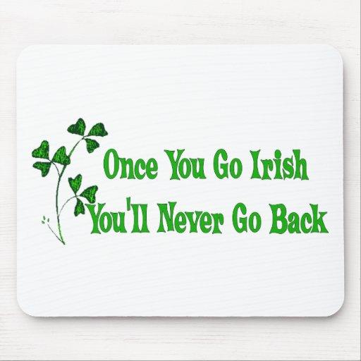 Una vez que usted va irlandés alfombrillas de ratones
