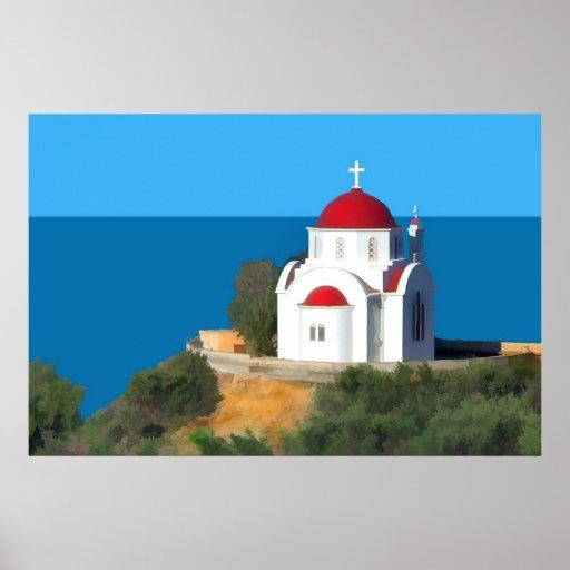 Una vez sobre una ladera griega póster