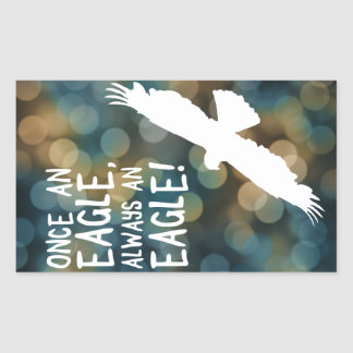 una vez un águila siempre un águila pegatina rectangular