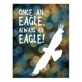 una vez un águila siempre un águila tarjeta postal