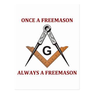 Una vez un Freemason Tarjetas Postales