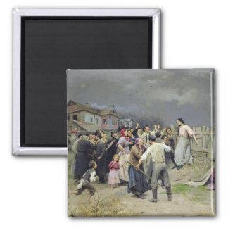 Una víctima del fanatismo, 1899 imán cuadrado