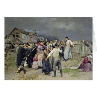 Una víctima del fanatismo, 1899 tarjetón