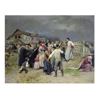 Una víctima del fanatismo, 1899 postal